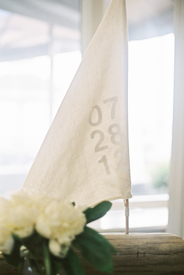 sailboat wedding details