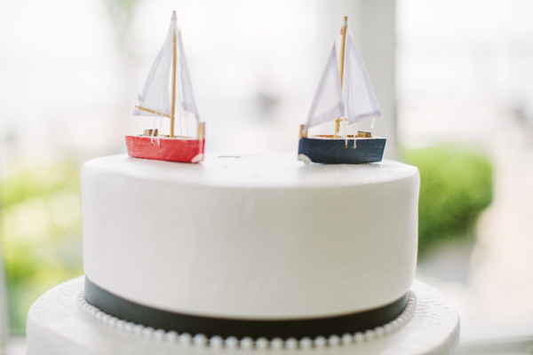 boat wedding cake topper