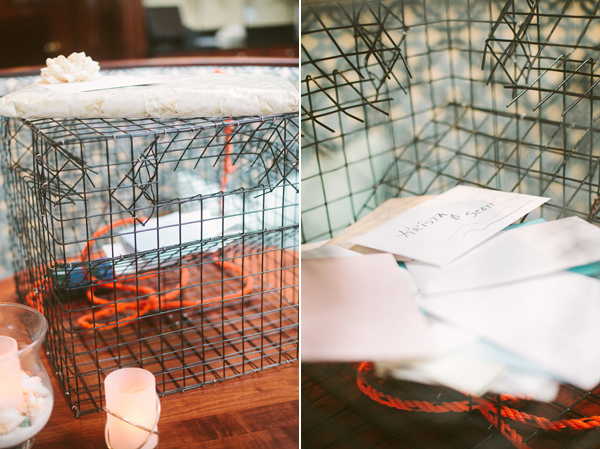 crab cage for cards wedding