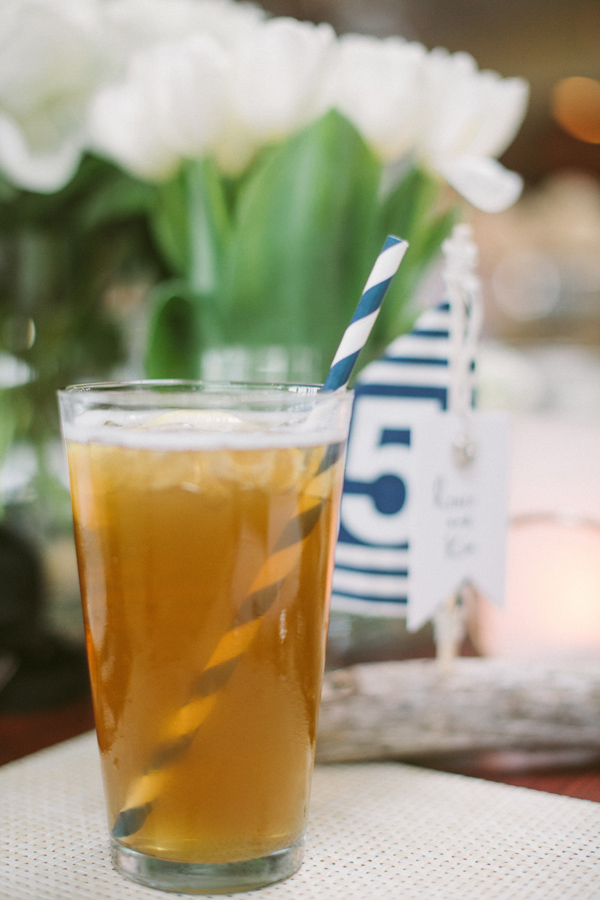 navy white paper straws