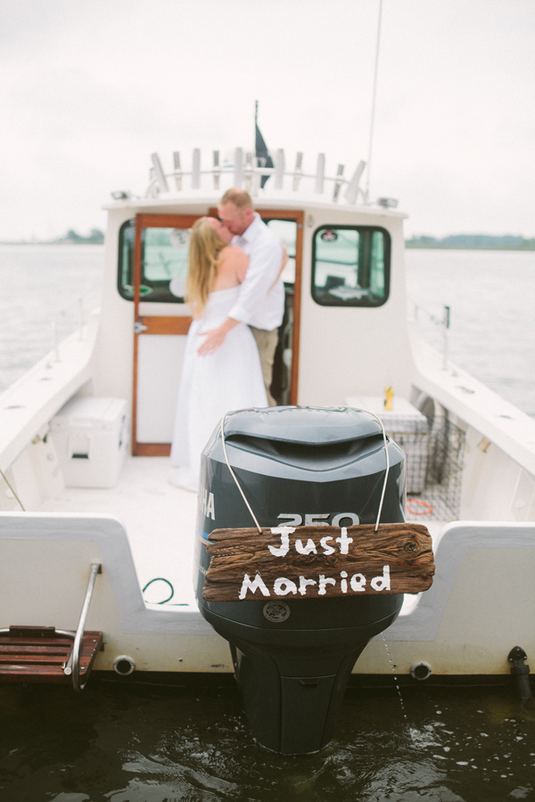 wedding grand exit boat