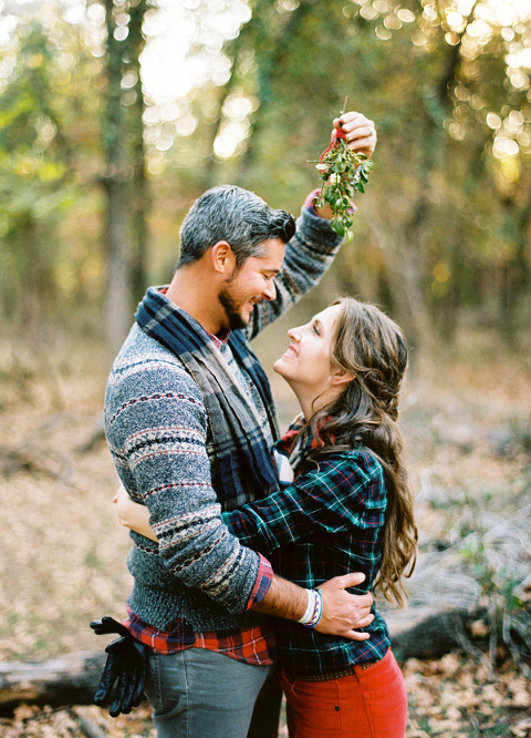 Christmas Tree Farm Engagement Pictures Austin Houston