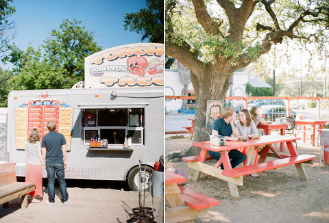 Food Truck Greetings From Austin Elizabeth Cafe Engagement Photos