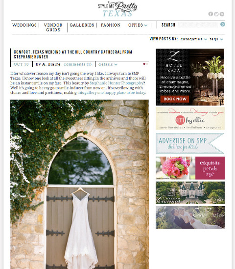 hill country cathedral wedding comfort